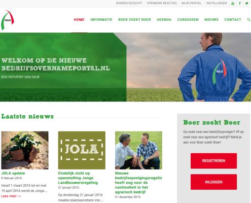 Bedrijfsovernameportal-website
